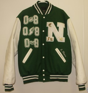 All-Star Embroidery Newark Catholic Varsity Jacket Front